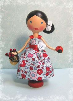 Rosetta - Spanish Inspired Clothespin Doll (sold) by enchantedbelles, via Flickr