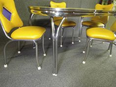 Hey, I found this really awesome Etsy listing at https://www.etsy.com/listing/536246594/vintage-chrome-diner-yellow-crushed-ice