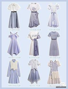 Ulzzang Fashion, Korean Fashion, Kpop Outfits, Girl Outfits, Modest Fashion, Fashion Dresses, Pretty Outfits, Cute Outfits, Anime Dress
