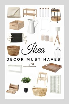 Here are some of my IKEA favorites for 2020 that can be used in a living room, a kitchen or in a bedroom. I really like the Scandinavian cleanness and natural look. They are also good base for an Ikea hack Ikea Living Room, Home Diy, Ikea Decor, Decor Inspiration, Scandinavian Interior Design, Affordable Interiors, Ikea, Room Decor, Ikea Must Haves