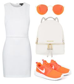 """""""- JUST GO AWAY -"""" by eemma-eklund ❤ liked on Polyvore featuring NIKE, Ray-Ban, MICHAEL Michael Kors and Topshop"""