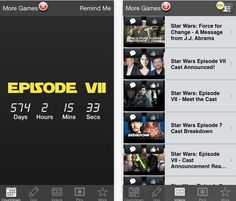 Looking forward to Star Wars Episode 7? If so, try this countdown app for both the latest news and a countdown to the release date.