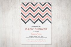 Chevron Baby Shower Invitation--free download and can be customized with colors and information