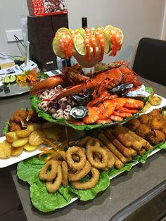 38 Ideas Seafood Platter Ideas Oysters For 2019 Seafood Party, Seafood Appetizers, Seafood Salad, Seafood Dinner, Fish And Seafood, Seafood Recipes, Seafood Lasagna, Seafood Buffet, Fish Platter
