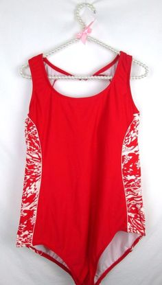 85546bd3d42 Women s Plus Size CATALINA one piece swimsuit RED WHITE plus size 2X (18W-