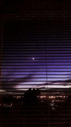 Night, Purple, Sky, Moon By Sena Çelik