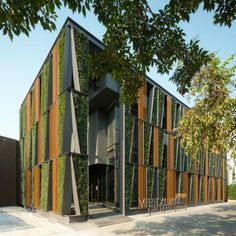 Attraktiv Moderne Architektur Häuser Moderne Wohnhäuser Vertikaler Garten  Aussenfassade