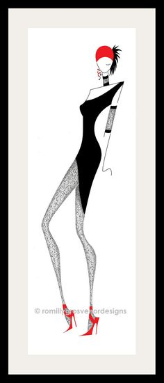 1920s fashion illustrations | 1920s - Fashion Illustration - Fashion Design - Wall Decor - Black and ...