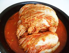Kimchi (Korean spicy cabbage) - a lot of work but won't go back to store-bought kimchi