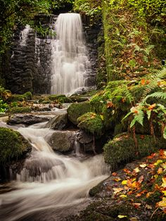 Beautiful Anglesey in Autumn' Another shot of Nant Meigan falls at Beaumaris. I was lucky that the dark grey clouds that were present when I set off from home gradually cleared to allow just enough light to show off the colours of the falls/ rocks. Photo by Meurig Jones. Source Flickr.com