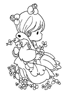 253 Best Precious Moments Coloring Pages Images On Pinterest
