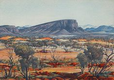 Buy online, view images and see past prices for ALBERT NAMATJIRA Central Australian Landscape. Invaluable is the world's largest marketplace for art, antiques, and collectibles. Watercolor Landscape, Landscape Art, Landscape Paintings, Watercolor Art, Aboriginal History, Aboriginal Art, Australian Painting, Australian Artists, Australian Aboriginals