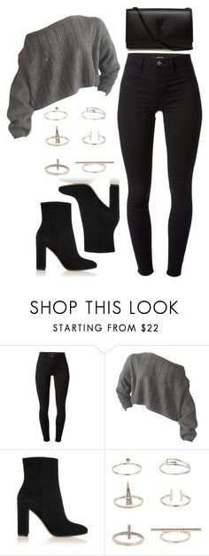 """""""Untitled #1197"""" by thelovelybry ❤ liked on Polyvore featuring J Brand, Gianvito Rossi, Topshop and Yves Saint Laurent"""