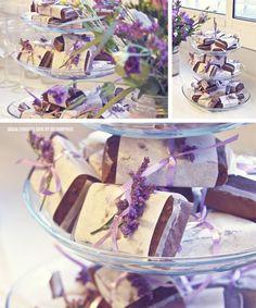 Paquetes brownie - fiesta Parisien en colores lavanda