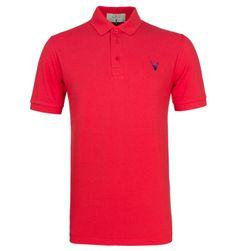 The Dapper Stag Red Pique Polo Shirt