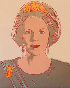 Andy Warhol / Portrait of Queen Beatrix of the Netherlands
