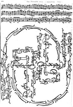 """dance notation for """"The Princess Ann's Chacone"""", 1719 