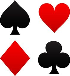 free clip art of red and black playing card suits spades hearts rh pinterest com deck of cards clip art free playing cards clipart black and white
