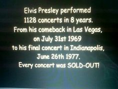1128 Concerts in 8 years ~ He had the most beautiful voice and was a wonderful entertainer and person. .
