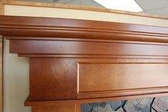 Custom Mantel by Brunsell Lumber. Located in the Madison showroom.