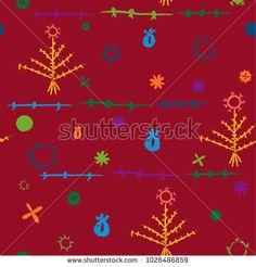 bright pattern with old uzbek embroidery elements Symbols, Embroidery, Patterns, Illustration, Image, Design, Art, Needlework, Craft Art