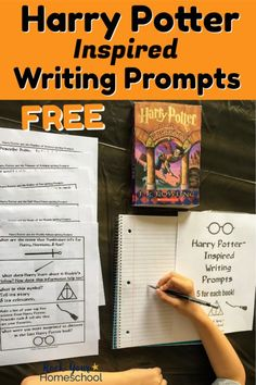 Join the learning fun celebration! Get your free printable pack of Harry Potter-Inspired Writing Prompts to motivate & inspire creative writing fun. Harry Potter Writing, Harry Potter Classes, Harry Potter Activities, Harry Potter School, Harry Potter Classroom, Harry Potter Printables, Harry Potter Theme, Teaching Writing, Writing Activities
