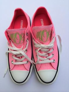 Monogrammed Converse Chuck Taylor All Stars TinyTulip.com We're All About Personalization - Gifts Monogram Embriodery