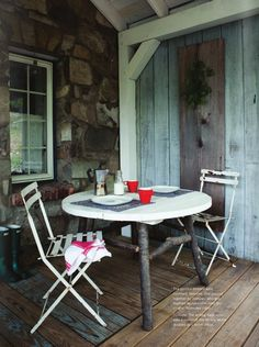 rustic porch for 2.