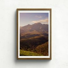 Open edition fine art photography print of mountains and hills near Akasha Retreat in the Western Cape, South Africa. Fine Art Photography, South Africa, Claire, Mountains, Frame, Illustration, Artwork, Prints, Painting