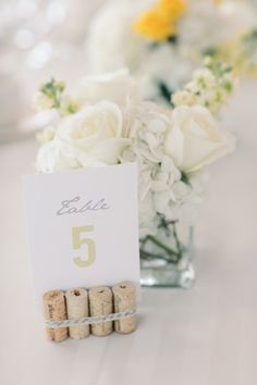 wedding reception table number idea; photo: Michelle Lange Photography