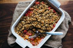 A Strawberry-Rhubarb Crumble Recipe for Spring