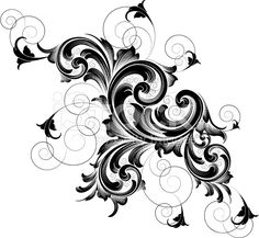 Scroll Bloom royalty-free stock vector art