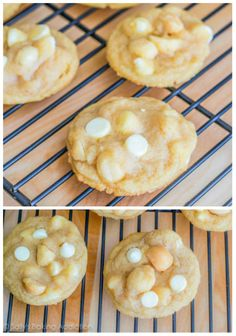 Soft-Baked and Super Chunky White Chocolate Macadamia Nut Cookies. Super-chewy, super-soft, and super-easy!