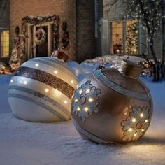 These Oversized Christmas Ornaments Are the Merriest Decorations We've Ever Seen