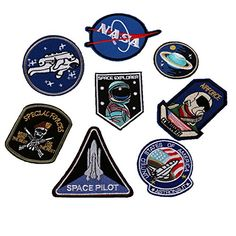 Lightbird Embroidered Sew on Patches Novelty Applique Iron Patches for Uniform, Jacket, Jeans, Polo and More Space Explorer) Cool Patches, Name Patches, Sew On Patches, Iron On Patches, Tactical Patches, Biker Patches, Embroidery Patches, Diy Embroidery, Embroidered Patch