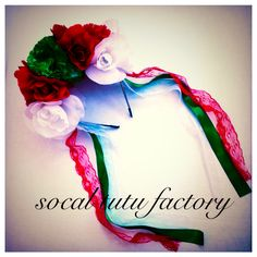 Traditional Mexican Floral & Lace Headband by SoCal Tutu Factory
