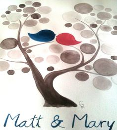 Personalized Wedding Guest Book Tree  Custom by onceuponapaper, $60.00