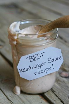 Sharing the Best Burger Sauce Recipe - a special sauce for your hamburgers to make your barbecue extra awesome. Recipe from The Recipe Girl Cookbook. This burger sauce is the absolute best addition to your grilled hamburgers! Best Hamburger Sauce Recipe, Good Burger Sauce Recipe, Best Burger Sauce, Burger Sauces Recipe, The Best Burger, Sauce Recipes, Cooking Recipes, Shrimp Recipes, Pasta Recipes