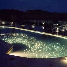 Fiber optic lighting for the pool.