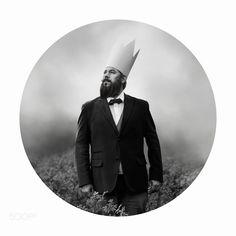 king of fools - Pinned by Mak Khalaf Model: Dean McClelland Fine Art fogblackandwhitecirclebeardcrownmustachefineartbeardedphotoshopcs6canon5d3lightroom5 by DeanMcClelland