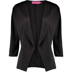 Boohoo Clara Ponte Crop Tailored Blazer ($20) ❤ liked on Polyvore featuring outerwear, jackets, blazers, ponte blazer, ponte knit jacket, tailored blazer, cropped jacket and cropped blazer