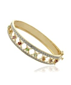 Look what I found on #zulily! Diamond & Gold Lattice Bangle by Endearing #zulilyfinds