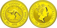 Australia, 200 dollars, Gold, 1997, kangaroo, 2 Ounce Gold, issue according to nice only 150 piece! Nice 369, KM 1043, in capsule, PP