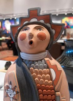 This figure by Emily Tsosie of Jemez Pueblo is among hundreds on display at the Santa Fe Community Convention Center for the Best of Show competition at Santa Fe Indian Market.