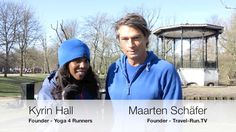 Meeting Kyrin Hall - I met Kyrin in the Vondelpark in Amsterdam. She's a marathon runner and yoga instructor at 'Yoga 4 Runners'. She will be showing some exercises how to prevent injuries.