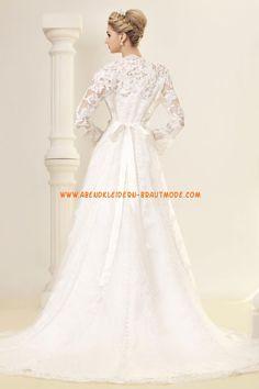 2013 Luxuriöse Brautkleider mit Spitze aus Satin A-Linie