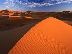 Sled down a Sahara desert dune.