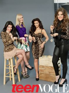 Jane Keltner de Valle with the Kardashian sisters