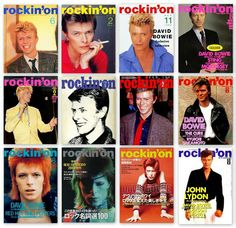 David Bowie Rockin' On covers.