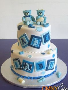 black and white baby shower for boy | Baby Shower Cakes